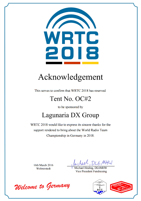 LDXG supports WRTC 2018